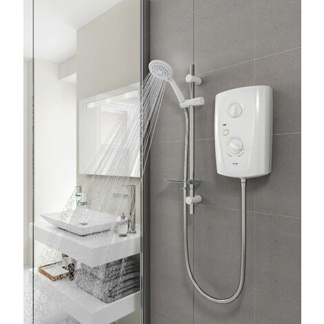 Triton T80 Pro Fit Electric Shower 8.5kW - White & Chrome
