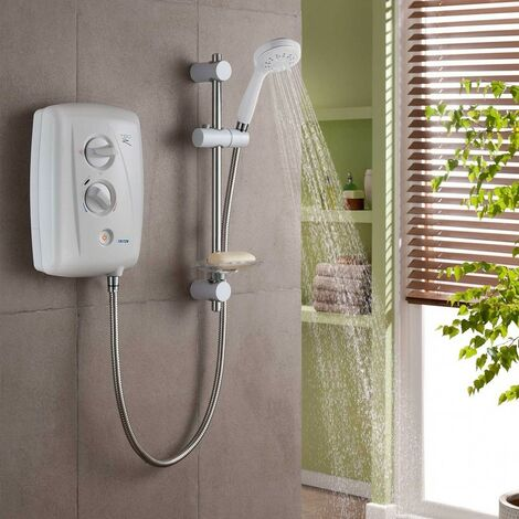 Triton T80Z Fast-Fit 7.5kW Electric Shower - White & Chrome - size - color White