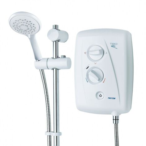 Triton T80Z Fast Fit 9.5kw Electric Shower White Left & Right Entry T80XR T80SI