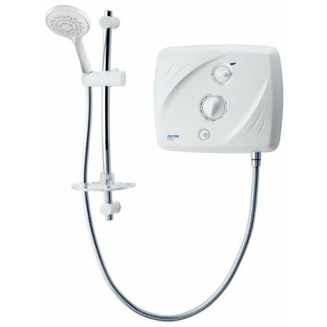 Triton Tank-fed Pumped Electric Shower T90xr 9.5kW White/Chrome