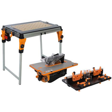 Triton TWX7CS1RT1 Set de scie à table (TWX7 + TWX7CS001 + TWX7RT001) - 1800W - 254mm