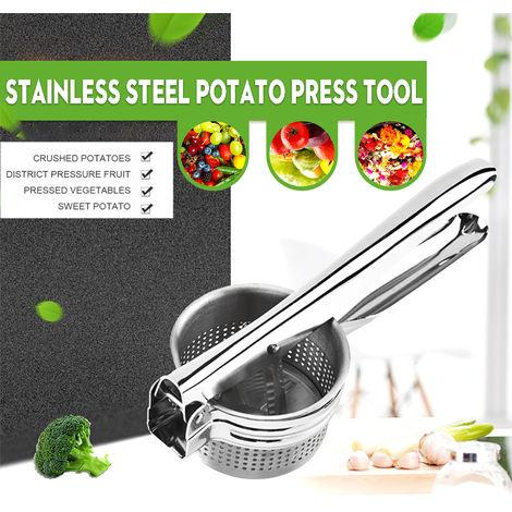 Triturador de patatas de frutas y verduras Exprimidor de acero inoxidable