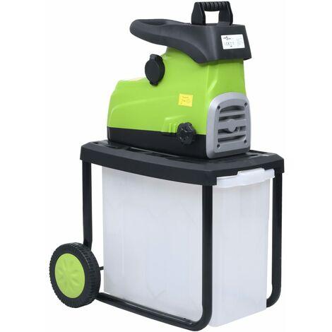 Trituradora de jardín eléctrica con caja de recolección 2800 W