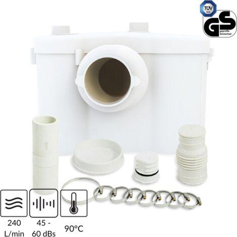 Trituratore per WC, lavabo, doccia con Filtro Antiodore e Allarme