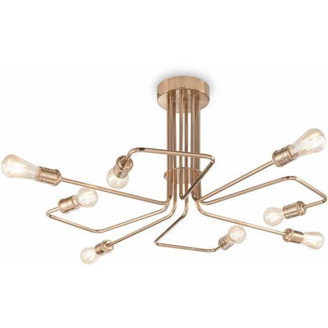 TRIUMPH antique brass ceiling light 8 bulbs