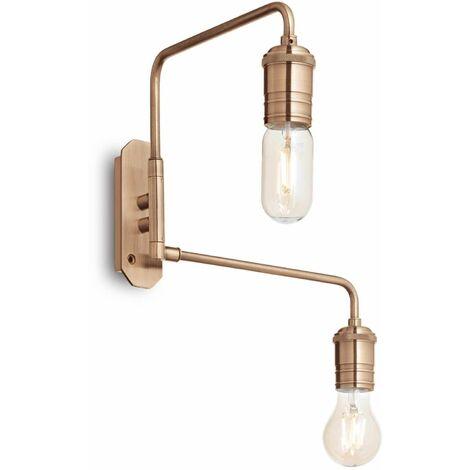 TRIUMPH antique brass wall light 2 bulbs