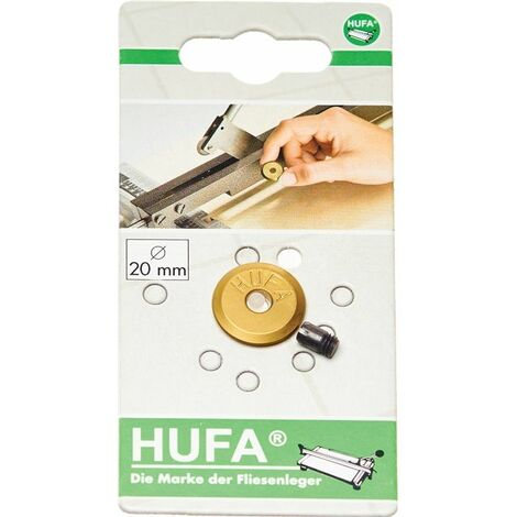 HUFA Schneidrädchen HM m. Achse D. 20mm Bohrung 5mm Stärke 3mm aus Titan