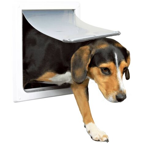 TRIXIE 2 Way Dog Flap Size S-M 30x36 cm White 3878