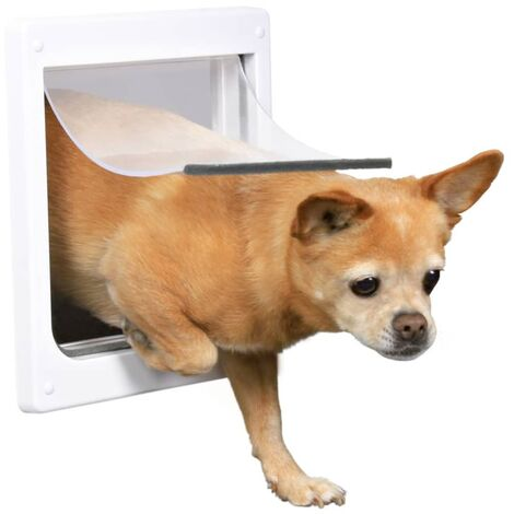 TRIXIE 2 Way Dog Flap Size XS-S 25x29 cm White 3877