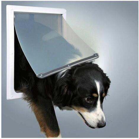 Trixie 2-Way White Plastic Dog Flap - (M-XL)