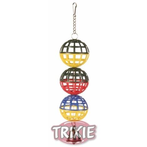 TRIXIE 3 Pelotas jaula con cadena y campana 16 cm