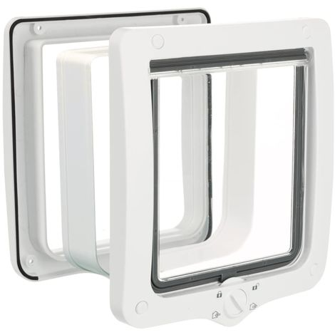 TRIXIE 4-Way Cat Flap Door XXL with Tunnel White