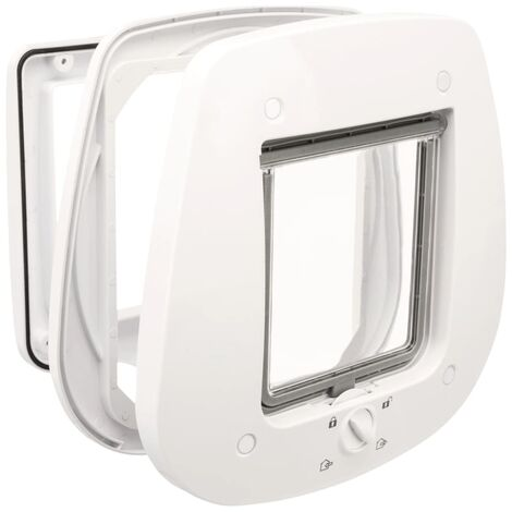 TRIXIE 4 Way Cat Flap for Glass Doors 27x27 cm White