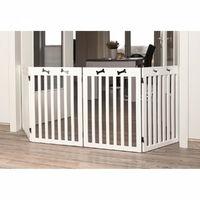 TRIXIE Barriere de sécurité - 4 pieces - 60-160x75 cm - Blanc - Pour chien