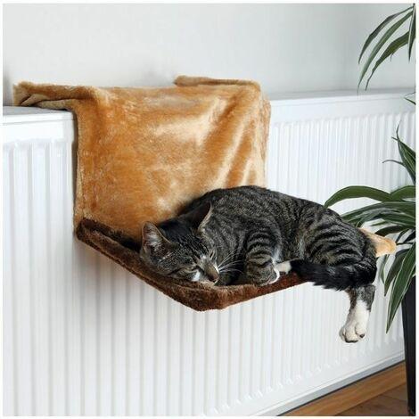 Trixie Brown Plush Radiator Cat Bed -