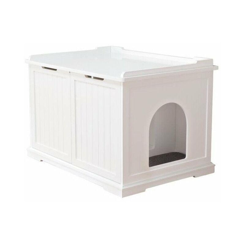 Cabine de toilette - 75 x 51 x 53 cm - Blanc - Pour chat - Trixie