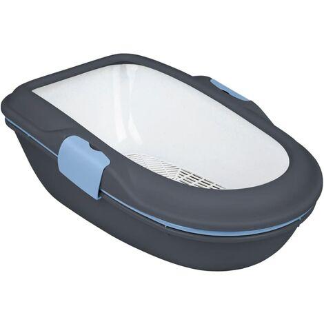 TRIXIE Caja de arena para gatos Berto 39x22x59 cm gris oscuro 40154