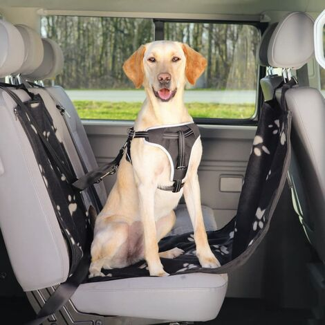 TRIXIE Car Seat Cover for Dogs 65x145 cm Black and Beige 13231
