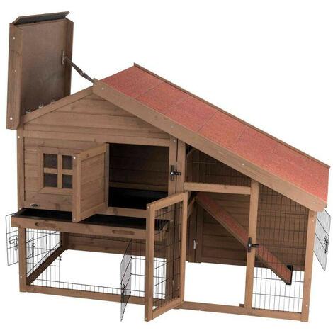 TRIXIE Caseta conejos Natura con recinto 123x96x76 cm