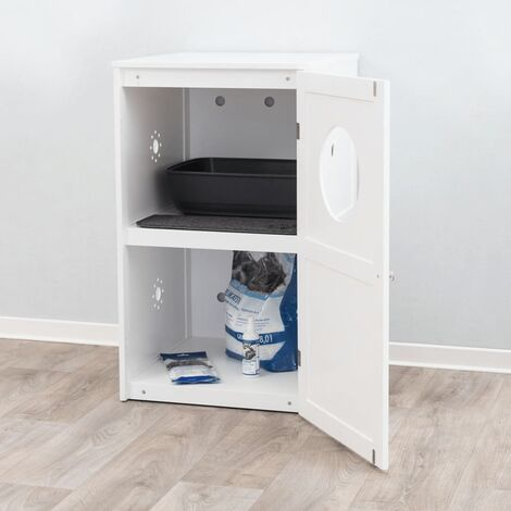 """main image of """"TRIXIE Cat House for Litter Box with 2 Storeys 53x90x58 cm White"""""""