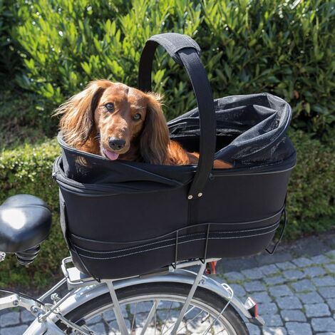 TRIXIE Cesta trasera de bicicleta para mascotas negro 29x49x60 cm