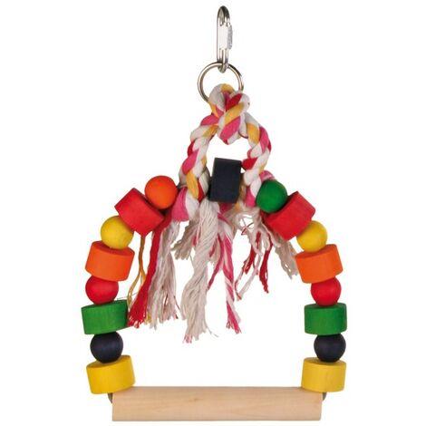 TRIXIE Columpio arco coloreado con tacos de madera