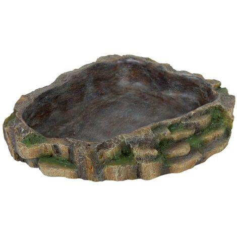 TRIXIE Cuenco de alimento para reptiles 24x20 cm resina de poliéster