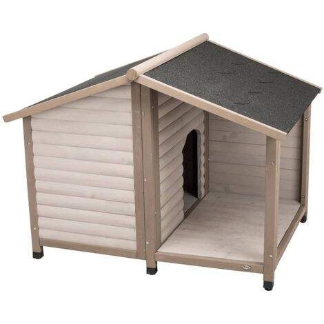 TRIXIE Dog Kennel with Saddle Roof nature 100x82x90 cm