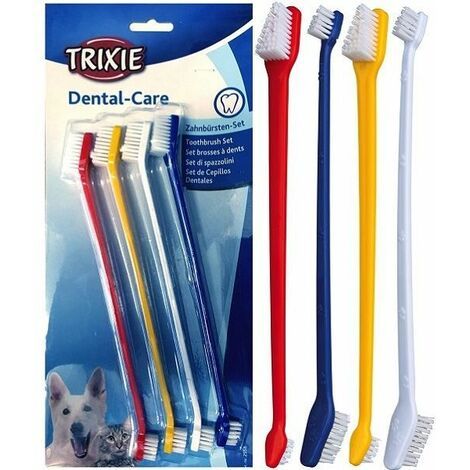 Trixie Double Sided Toothbrush 4pk -