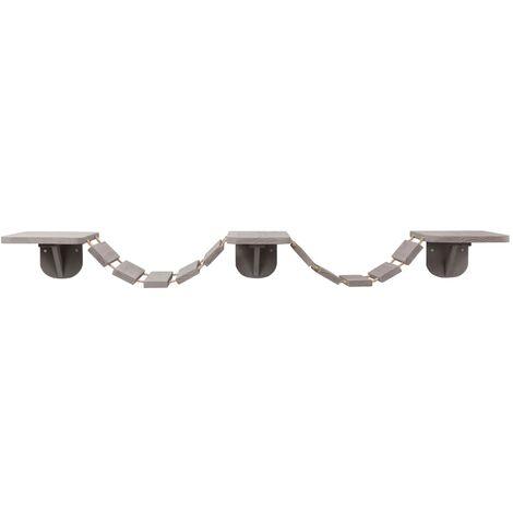 TRIXIE Échelle d'escalade murale pour chats 150x30 cm Taupe