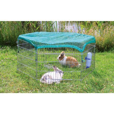 TRIXIE Enclos extérieur avec filet pour animaux 63x60 cm Argenté 6253