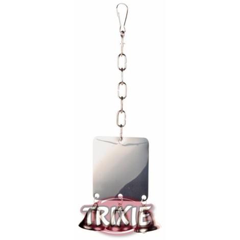 TRIXIE Espejo Metalico con 3 campanas 8x7cm