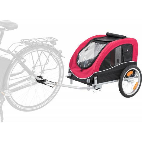 TRIXIE Fahrrad-Anhänger S schwarz/rot