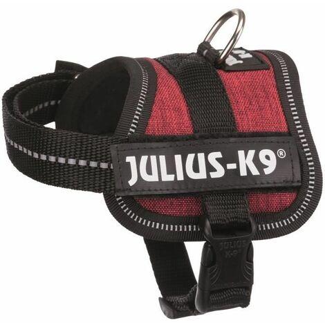 TRIXIE Harnais Power Julius-K9 Baby XS : 30?40 cm - 18 mm - Rouge bordeaux - Pour chien