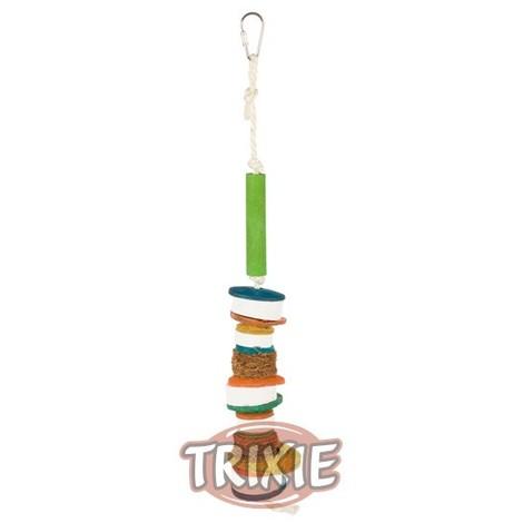 TRIXIE Juguete Pajaro Con Piedras Minerales y Materiales Naturales 35 cm