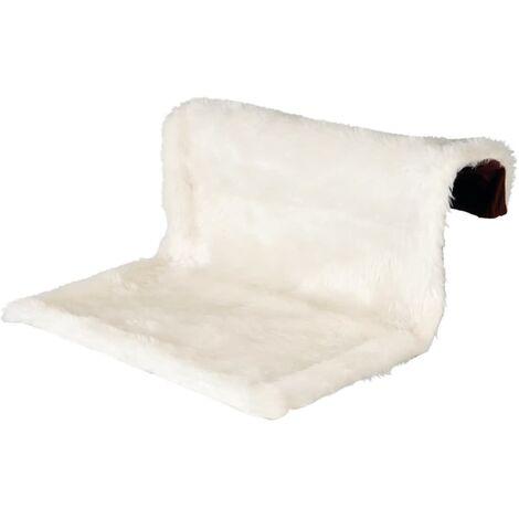 TRIXIE Lit de radiateur pour animaux en peluche crème et marron