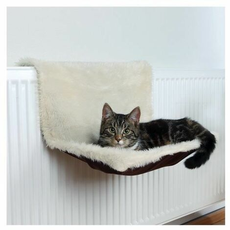 Trixie Long-Haired Plush/Suede Radiator Cat Bed -