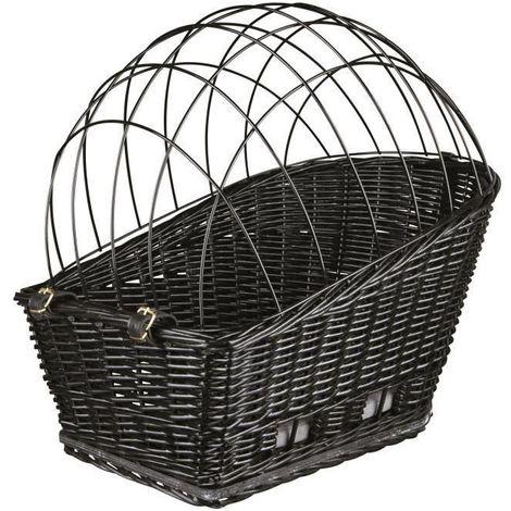 TRIXIE Panier de transport osier avec grille pour velo - Noir - Pour chien