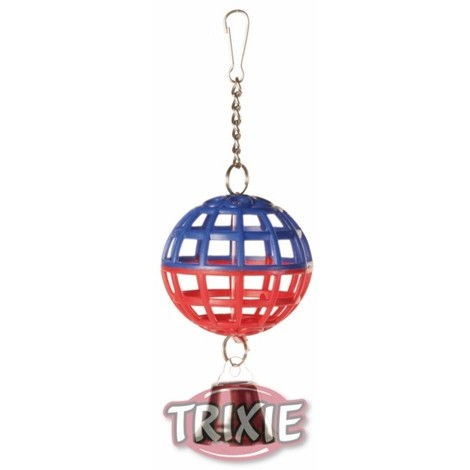 TRIXIE Pelota jaula con cadena y campana, 7 cm