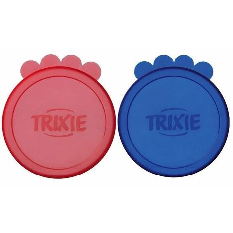 """main image of """"Trixie Plastic Pet Food Tin Covers - (2 pack)"""""""
