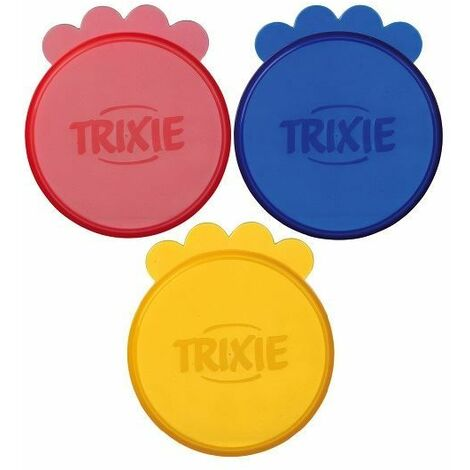 """main image of """"Trixie Plastic Pet Food Tin Covers - (3 Pack)"""""""