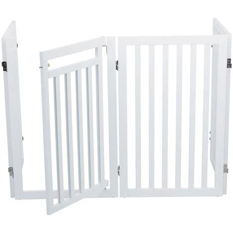 TRIXIE Portail pour chiens 60-160 cm Blanc 39363