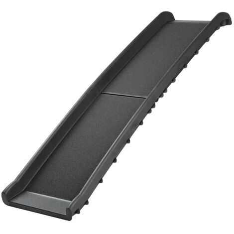 TRIXIE Rampa de mascotas 40x156 cm 90 kg negro 3939 - Negro