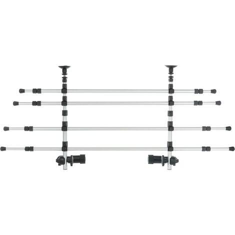 TRIXIE Reja de coche para perros aluminio plateado y negro 105-172cm