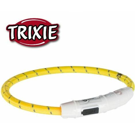 """main image of """"Trixie Safer Life USB Flash Light Ring - Yellow(XS- S (35 cm))"""""""