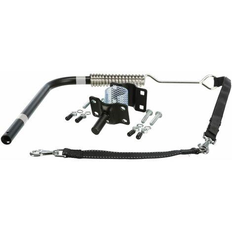 TRIXIE Set de correas de perro para bicicleta plata y negro 1287