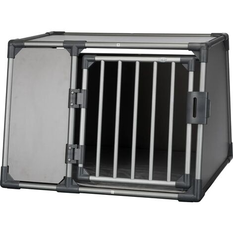TRIXIE Sloping Dog Transport Cage Size L Aluminium Graphite 39338