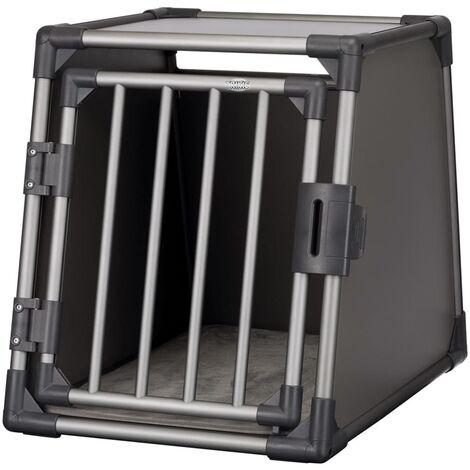 TRIXIE Sloping Dog Transport Cage Size M Aluminium Graphite 39336