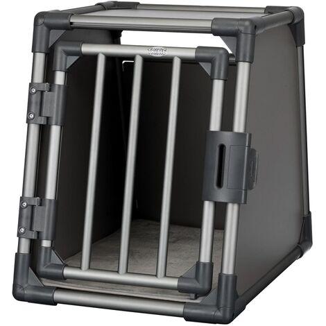 TRIXIE Sloping Dog Transport Cage Size S Aluminium Graphite 39335