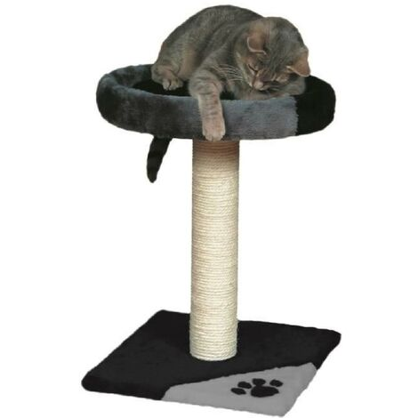 TRIXIE Tarifa Arbre a chat Hauteur 52 cm gris et noir peluche et sisal naturel